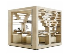 Office cube, great design! Compact office #creative