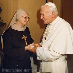 St. John Paul II entered heaven on April 2, 2005.  St. John Paul II & Mother Angelica, pray for us!  #MFVAFriars #stjohnpaulii #MotherAngelica #ewtnma