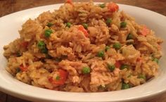 Weeknight Fast—Sriracha Chicken Fried Rice with Veggies/ Tonjastable.com