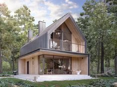 Architecture – Enjoy the Great Outdoors! Modern Barn House, Modern House Design, Triangle House, A Frame House, Modern Farmhouse Exterior, House Goals, House In The Woods, Exterior Design, Building A House
