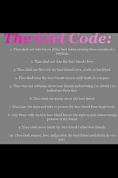 girl code laws