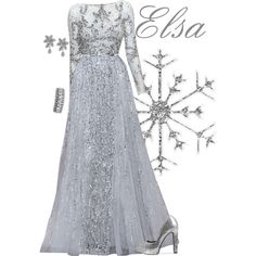 Elsa by alyssa-eatinger on Polyvore featuring Nly Shoes, Towne & Reese and R.H. Macy's & Co.