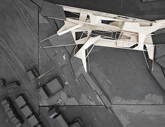 Programmatic bridge project in Providence, RI. First year of graduate architecture school at Washington University in St. Architecture Building Design, Architecture Collage, School Architecture, University Of Washington, Design Reference, Top View, Page Design, Bridge, Architectural Models