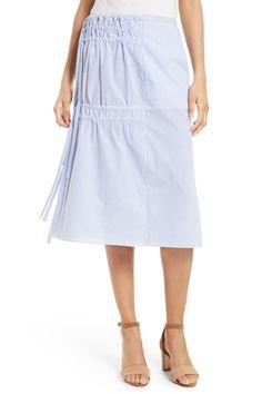 Elliot Stripe Side Tie Skirt