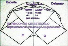 El Rincon De Celestecielo: Patrones para otros tipos de mangas fruncidas 6.- Manga drapeada con tres picos