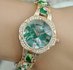 Geneva watches, ladies fashion watches, Geneva trend crystal, irregular alloy, new style. Starting at $1