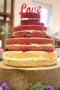 Naked cake from Green Kitchen Cakes #cake #wedding #cakes
