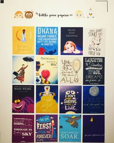 Disney Quote sheet #3 Planner Stickers, Erin Condren Life Planner, Happy Planner by LittlePixiePaperie on Etsy https://www.etsy.com/listing/265050053/disney-quote-sheet-3-planner-stickers