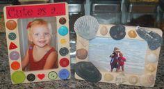 In Lieu of Preschool: Custom one dollar Photo Frames for Father's Day