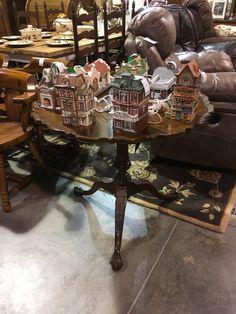 Tilt Top Pie Crust Table - Oak Bowery Plantation - Auburn SKU 79SKJ8 - $395.00