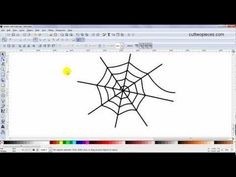 I show how you can use the spiral shape in Inkscape and change it into a spider web. Written instructions can be found on my blog http://www.cuttwopieces.com/2012/04/inkscapefrom-spiral-to-spider-web.html