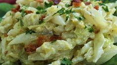 Cabbage, bacon, and sour cream make a delicious creamy, savory side dish, especially good for St. Patrick's day.
