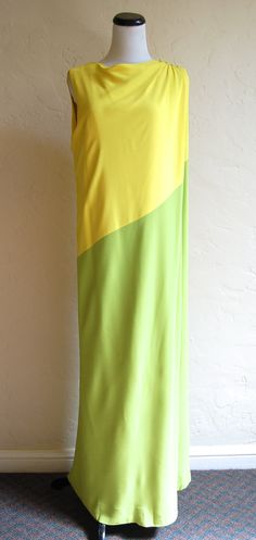 Vintage I Magnin Groovy 70s Colorblock Yellow & by LolaAndBlack, $42.50
