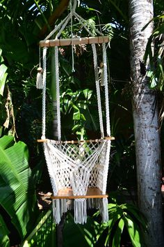 Handmade Boho Baby Swing Organic Off-White Cotton Indoor/Outdoor - Mission Hammocks helps support persons with disabilities in Nicaragua. Our hammocks are made in a workshop that employs blind, deaf, and physically disabled Hanging Bassinet, Hanging Swing Chair, Swinging Chair, Hanging Chairs, Swing Chairs, Camp Chairs, Balcony Chairs, Room Chairs, Indoor Hammock