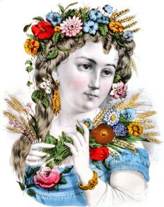 From a Currier & Ives hand-colored lithograph titled, simply, 'Summer.' Published by Currier & Ives circa 1871.