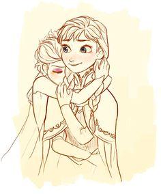 anna frozen elsa anna and elsa elsanna Disney Princess Frozen, Frozen Elsa And Anna, Disney Animation, Animation Film, Disney Fan Art, Disney Love, Ghibli, Freezing Anime, Frozen Drawings