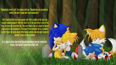 """Sonic the Hedgehog - Modern and Classic Sonic - and Miles """"Tails"""" Prower - Classic and Modern - are spending some time together. I like this picture..."""