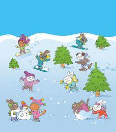 Praatplaat winter, sneeuw voor kleuters Month Weather, Core French, Winter Illustration, Hidden Pictures, Winter Images, Winter Kids, Pretty Cards, Toddler Preschool, Learning Spanish