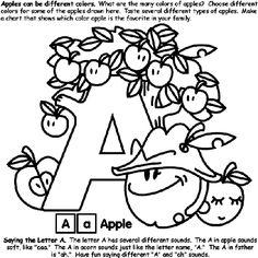 Alphabet A coloring page