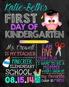 First Day of School Sign Chalkboard Sign by DarlingSailorDesigns, $9.00