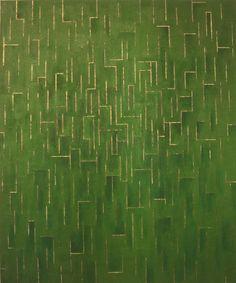 Arcadia, acrylic and metallic leaf on canvas. www.celeste.nz