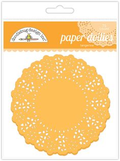 Paper Doilies (Tangerine) from Doodlebug - 75 Count