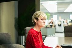 Mackenzie Davis in AMC's 'Halt and Catch Fire' - She is such a relatable character as a female developer, minus the unnecessary escapades with the boss.