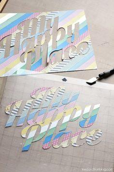 Washi Tape Stickers - Cut