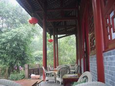 A nice, quiet place to drink tea in the Bamboo Park in Chengdu.