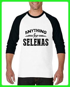 Ugo Anything for Selenas Elegant Movies Gift 4 Xmas Birthday Mothers Day Unisex Raglan Sleeve Baseball T-Shirt - Birthday shirts (*Amazon Partner-Link)