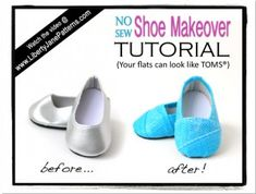 How To Make Shoes Like Toms for Dolls | Liberty Jane Doll Clothes Patterns For American Girl Dolls
