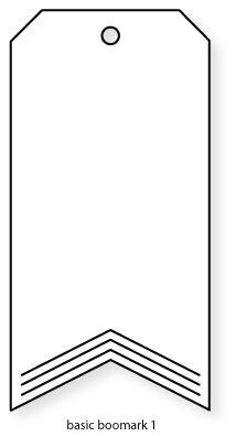 Papertrey Ink - Basic Bookmark 1 Die: Papertrey Ink Clear Stamps Dies Paper Ink Kits Ribbon