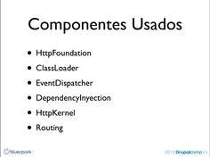 Componentes symfony en Drupal 8