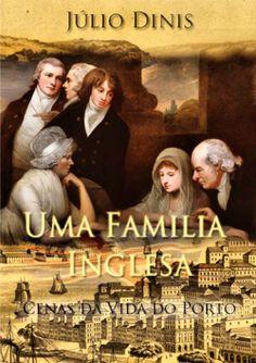 """Capa do livro """"Uma Família Inglesa"""" de Júlio Dinis."""