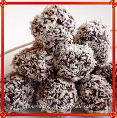 Sjokoladekuler, helt perfekt til jul! Krispie Treats, Rice Krispies, Stevia, Truffles, Stuffed Mushrooms, Sweets, Cookies, Vegetables, Desserts