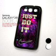 NIKE Purple Nebula Just Do It design for Samsung Galaxy S3 Case