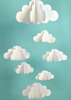 Paper clouds. i need to find out how to make these