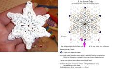 Rubber band snowflake craft