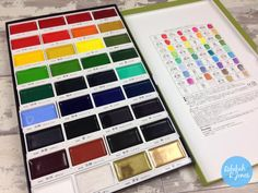 Watch my video review, unboxing and how-to of the 36 color set of Gansai Tambi watercolors by Kuretake. Watercolor Paint Set, Watercolor Cards, Watercolor Paintings, Watercolours, Muji Stationery, Stationary, Kuretake Gansai Tambi, Art Store, Learn To Paint