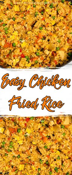 Easy & Delicious Chicken Fried Rice Recipe you must try at home Chicken Fried Rice Chinese, Chicken Fried Rice Recipe Easy, Chicken Fried Cauliflower Rice, Chicken Rice Recipes, Easy Rice Recipes, Fried Chicken, Healthy Chicken, Fried Rice Recipe Indian, Fried Rice With Egg