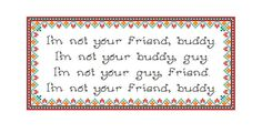 PATTERN: South Park Terrance & Phillip Quote I'm by SweetLittleFox