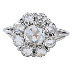 2.20 Carat Rose Cut Diamond Ring | From a unique collection of vintage more rings at https://www.1stdibs.com/jewelry/rings/more-rings/