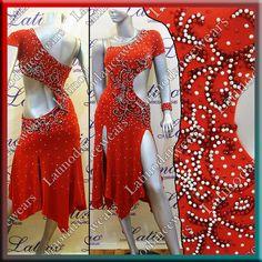 Latin Rhythm Salsa Ballroom Competition Dance Dress Size s M L LT733   eBay