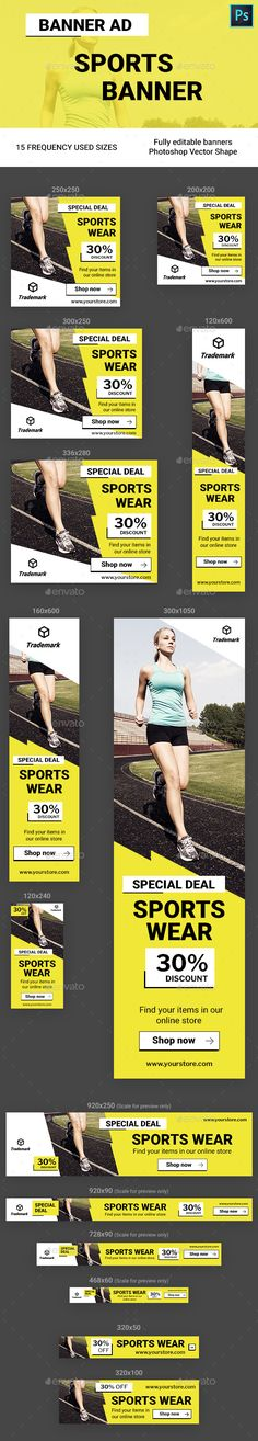 Sports Banner Ads - Banners & Ads Web Elements