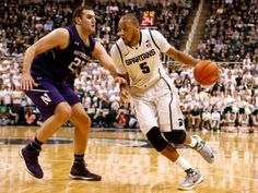 Michigan State is now tied at the top of the Big Ten with Michigan after a win over Northwestern on Thursday night. Basketball Tickets, Basketball Season, Basketball Games, College Basketball, Basketball Court, Ten Games, East Lansing, Michigan State Spartans, Face