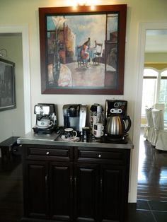 MY LITTLE COFFEE BAR, everything you ever need to make coffee, tea or hot chocolate including the mugs are in it, so convenient for everyone....never have to make my husband's coffee ever again, he makes one for me instead! SUCCESS!!!!!