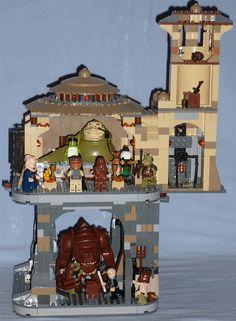 Lego Jabba's Palace + Rancor Pit by Darth Ray, via Flickr