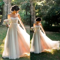 Lace Top Tulle A Line Formal Onsale Long Prom Dress, BG51493