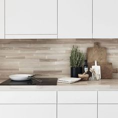 butcher block top and backsplash