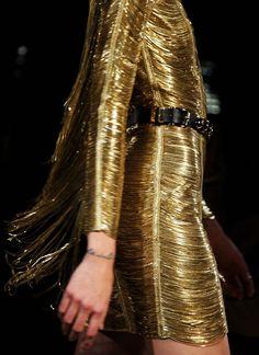 Glittering gold.